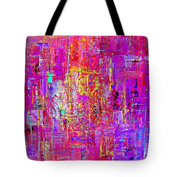 Fire In My Heart Abstract Tote Bag