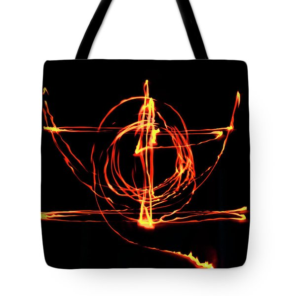 Fire Light Drawing Tote Bag