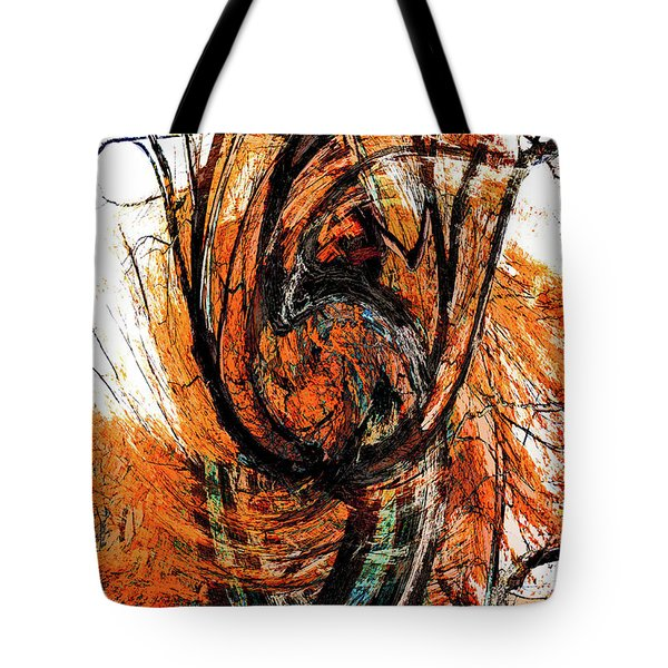 Tote Bag featuring the photograph Fire Tree 2 by Michael Arend