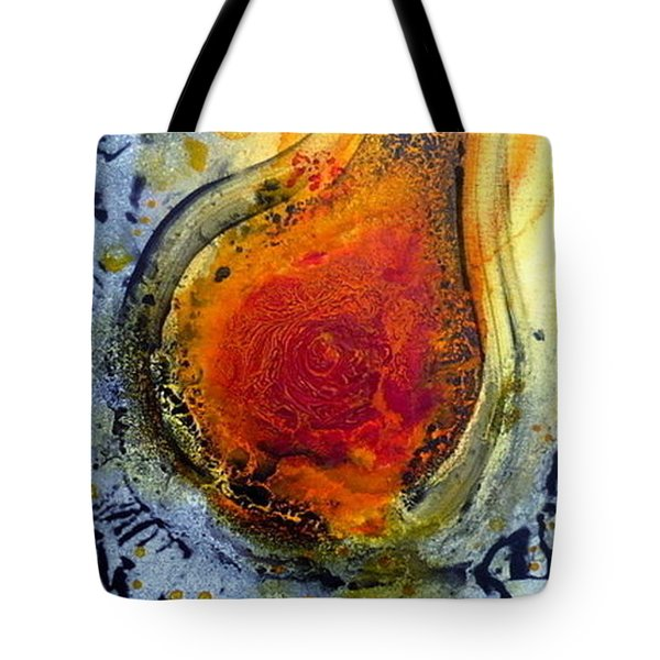 Tote Bag featuring the painting Fireball by 'REA' Gallery