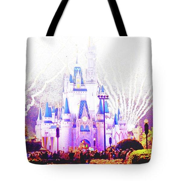 Fireworks, Cinderella's Castle, Magic Kingdom, Walt Disney World Tote Bag