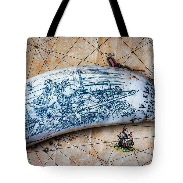 Firing Canon Carving Tote Bag