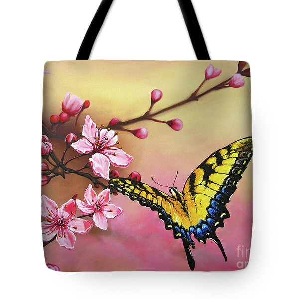 First Blossom Of The Morning Tote Bag