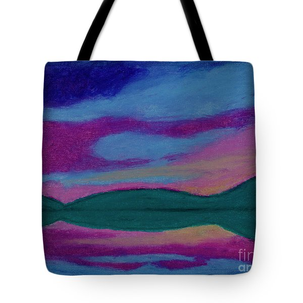 First Light Abstract Tote Bag