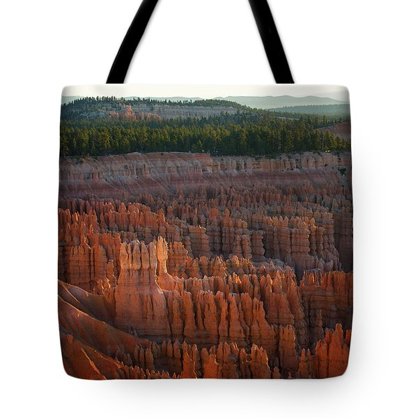 First Light On The Hoodoo Inspiration Point Bryce Canyon National Park Tote Bag