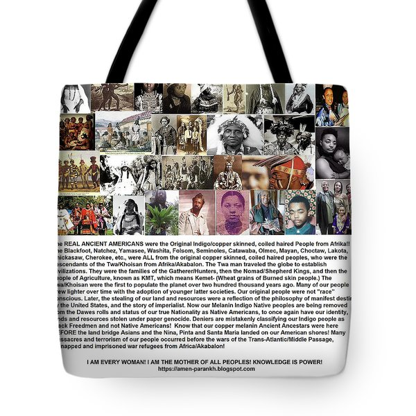 First Native Americans Were Indigo Twa Black Afrikans Tote Bag