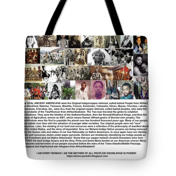 First Native Americans Were Indigo Twa Black Afrikans Tote Bag