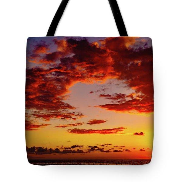 First November Sunset Tote Bag