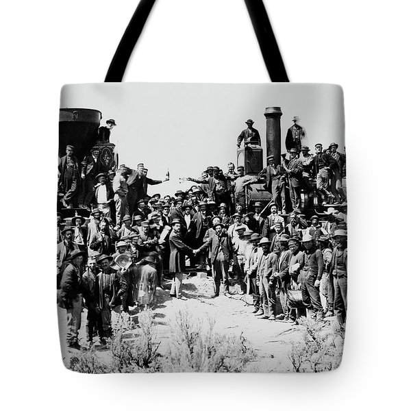 First Opening Of The Transcontinental Railroad - 1869 Tote Bag