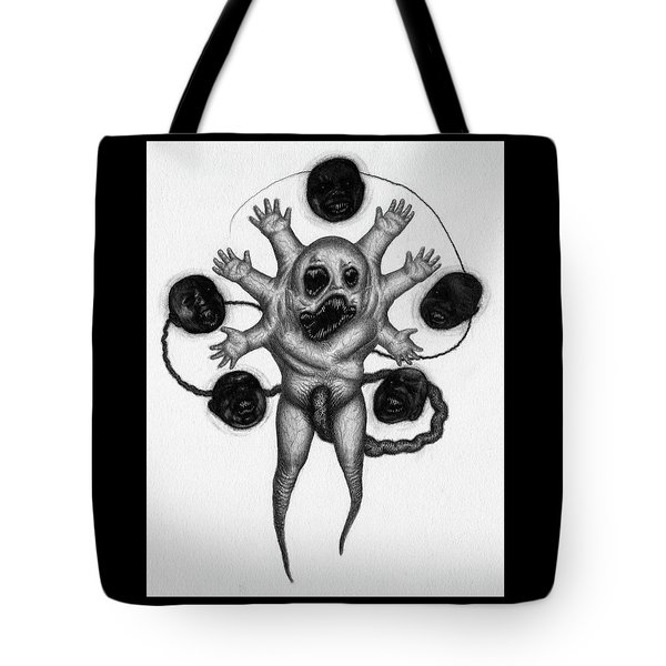 Tote Bag featuring the drawing Firstborn Of The Nursery Wing - Artwork by Ryan Nieves