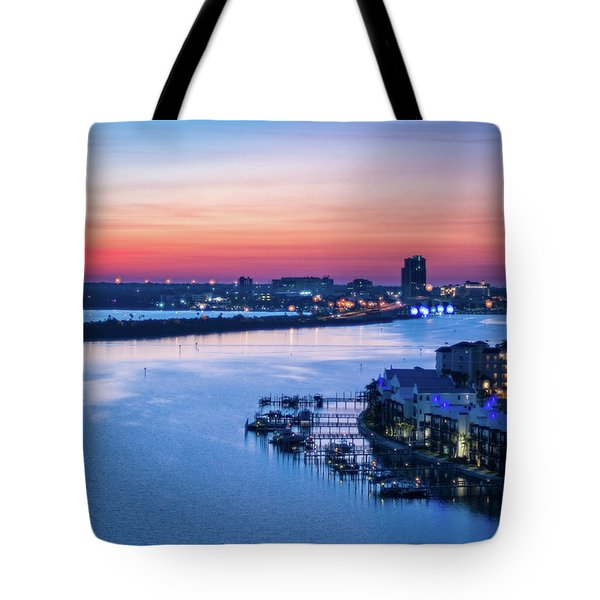 Firstlight Over Clearwater Tote Bag
