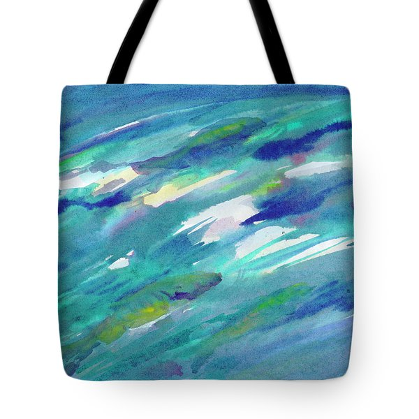 Tote Bag featuring the painting Fish In Water by Dobrotsvet Art