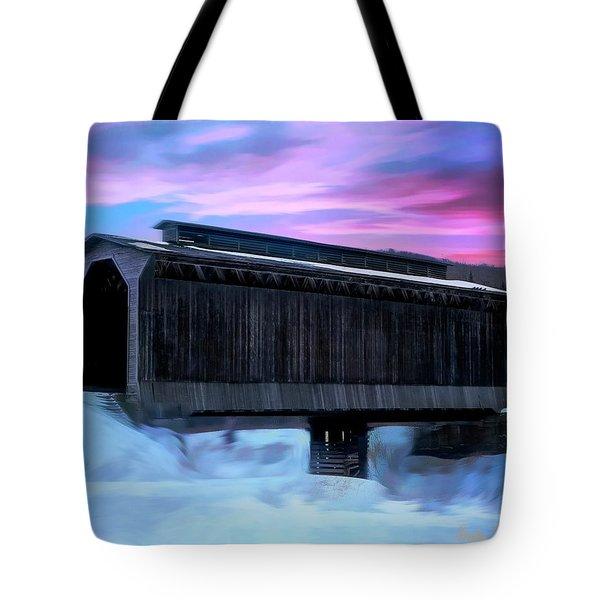 Fisher Raiilroad Covered Bridge Wolcott Vermont. Tote Bag