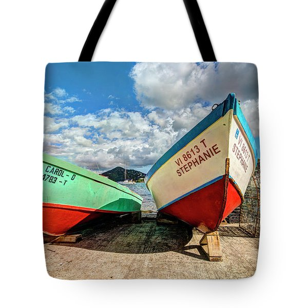 Fishing Boats In Frenchtown Tote Bag