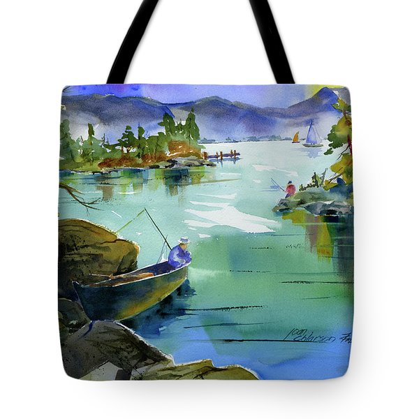 Fishing Lake Tahoe Tote Bag