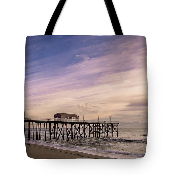 Tote Bag featuring the photograph Fishing Pier Sunrise by Steve Stanger