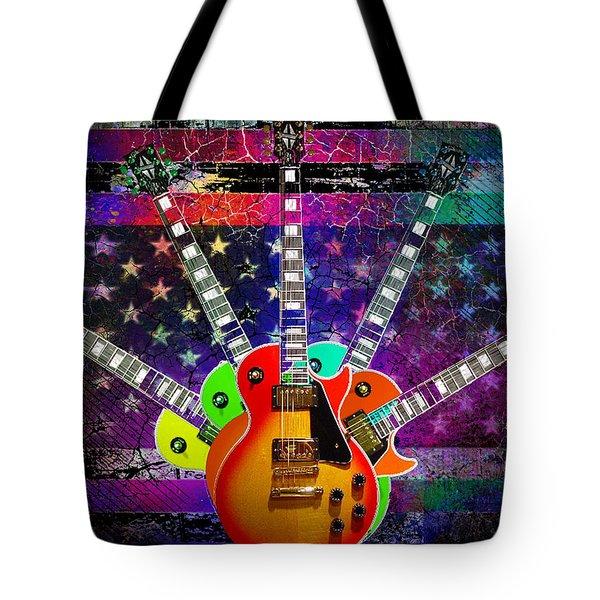 Five Guitars Tote Bag