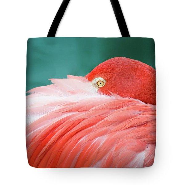 Flamingo At Rest Tote Bag