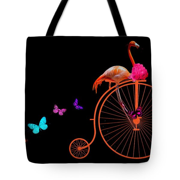 Flamingo Life Is Good Tote Bag