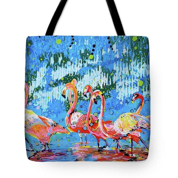 Flamingo Pat Party Tote Bag