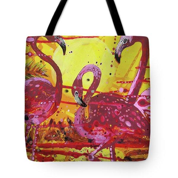 Flamingo Sunset Tote Bag