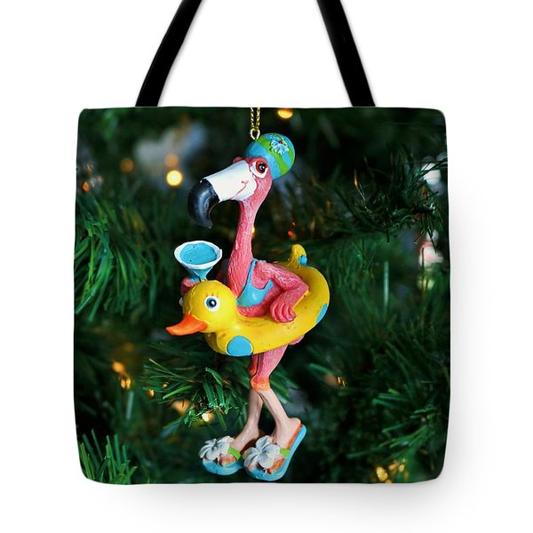 Flamingo Swimmer Tote Bag