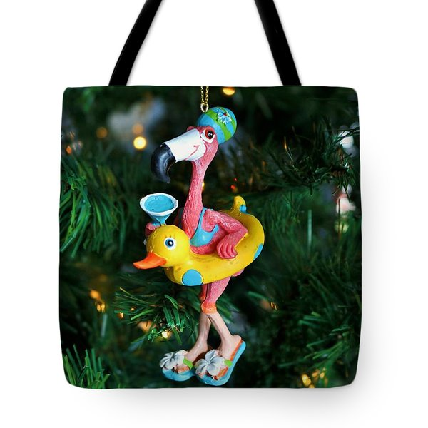 Flamingo Swimmer Tote Bag