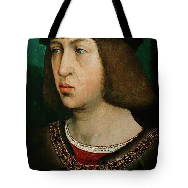 Flandes, Juan De Philipp Der Schoene -1478-1506-, King Of Castile. Oil On Oakwood, 30 X 19 Cm. Tote Bag