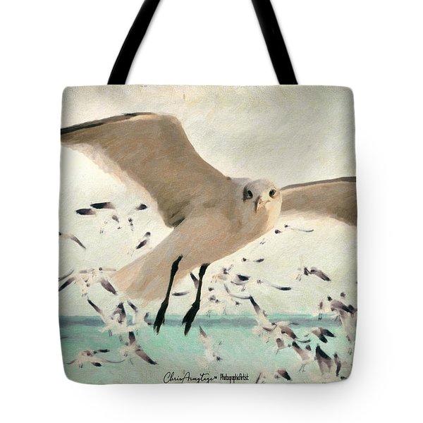 Flight Of The Gulls Tote Bag