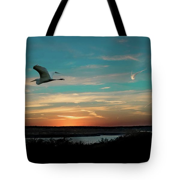 Flight To The Lake Tote Bag