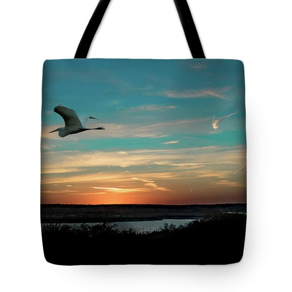 Flight To The Lake Tote Bag