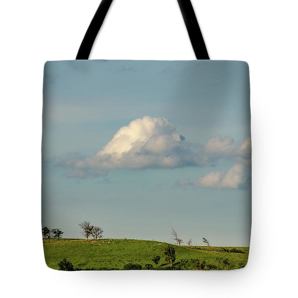 Tote Bag featuring the photograph Flint Hills Horizon by Jeff Phillippi