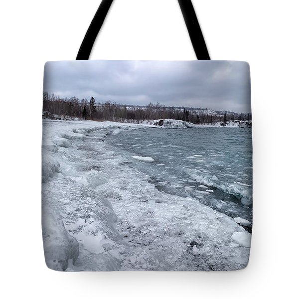 Floating Ice Tote Bag