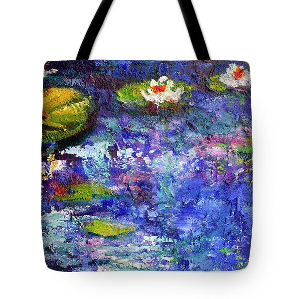 Floating Lilies Oil Painting Tote Bag