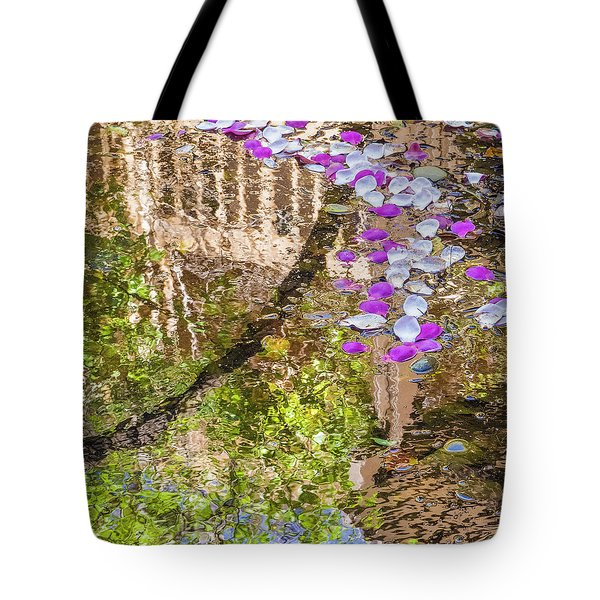 Floating Magnolia Petals Tote Bag