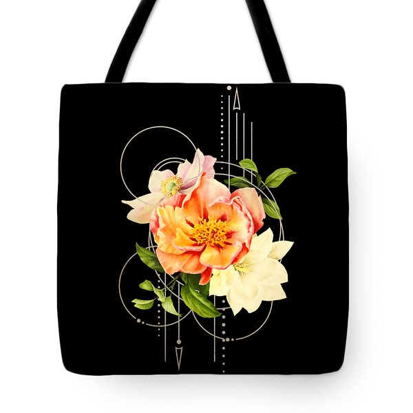 Tote Bag featuring the digital art Floral Abstraction by Bee-Bee Deigner
