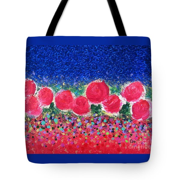 Tote Bag featuring the painting Floral Kaleidoscope by Corinne Carroll