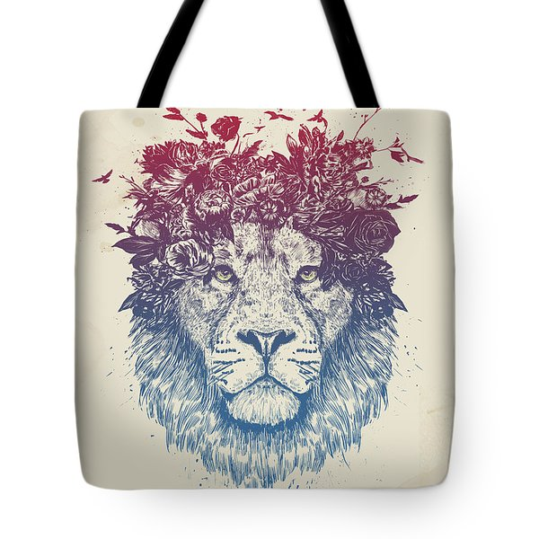 Floral Lion IIi Tote Bag
