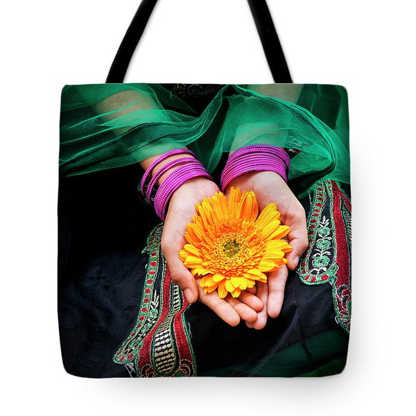Tote Bag featuring the photograph Floral Offering by Tim Gainey