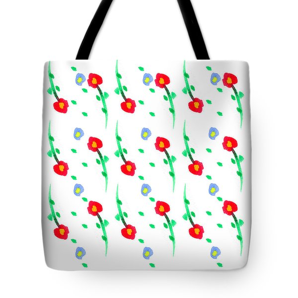 Tote Bag featuring the painting Floral Pattern by Bee-Bee Deigner