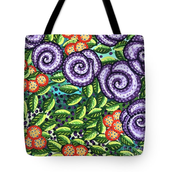 Floral Whimsy 11 Tote Bag