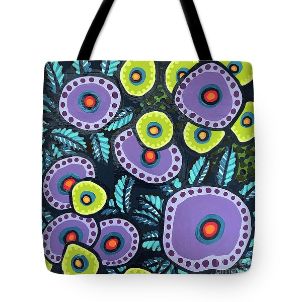 Floral Whimsy 12 Tote Bag