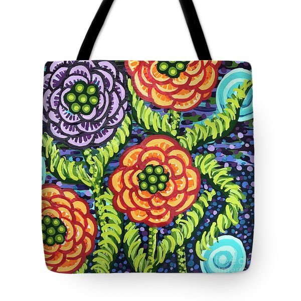Floral Whimsy 5 Tote Bag