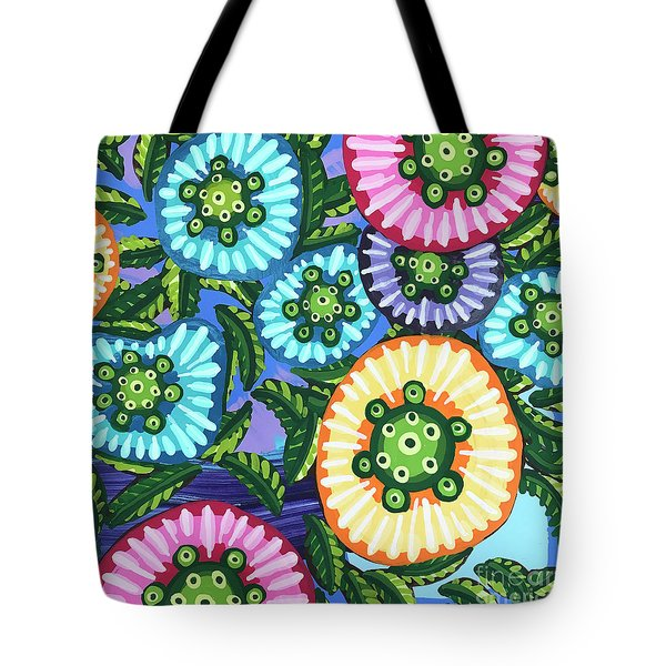 Floral Whimsy 6 Tote Bag