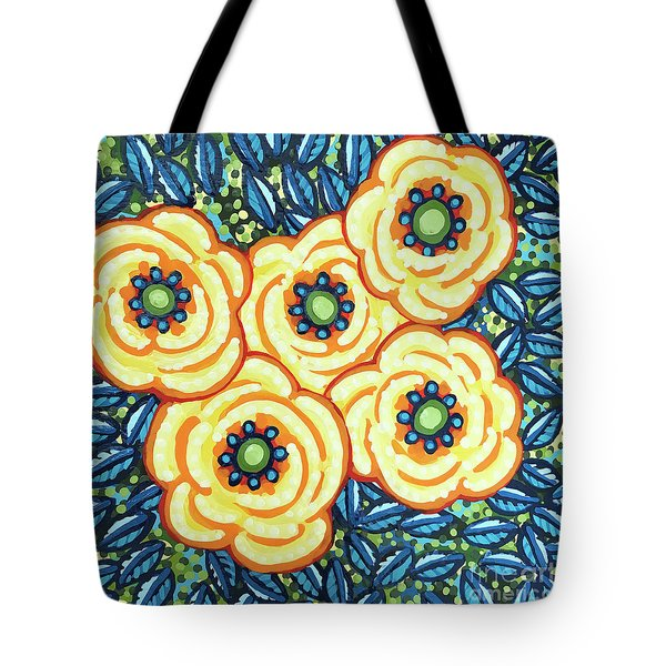 Floral Whimsy 7 Tote Bag