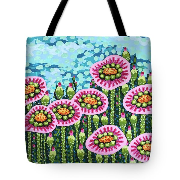 Floral Whimsy 8 Tote Bag