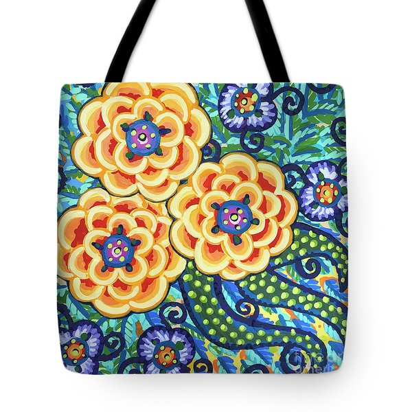 Floral Whimsy 9 Tote Bag
