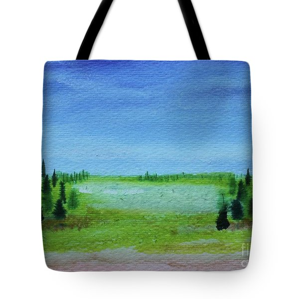 Tote Bag featuring the painting Florid Forest by Kim Nelson