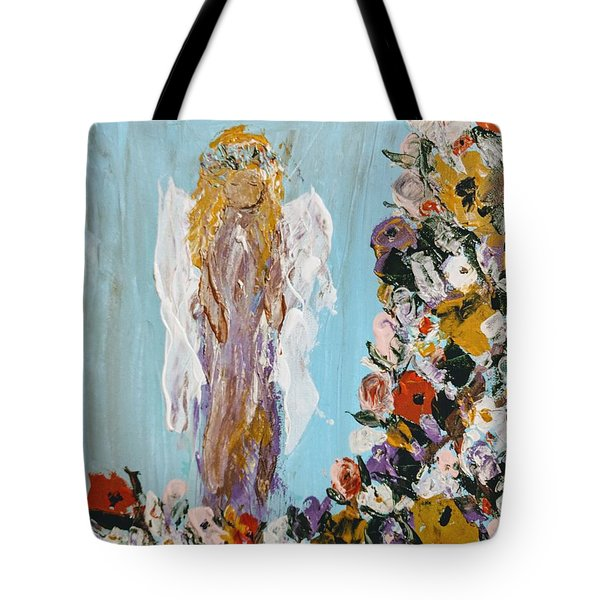 Flower Child Angel Tote Bag