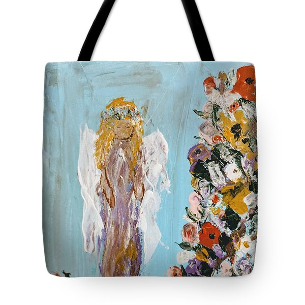 Flower Child Angel Tote Bag